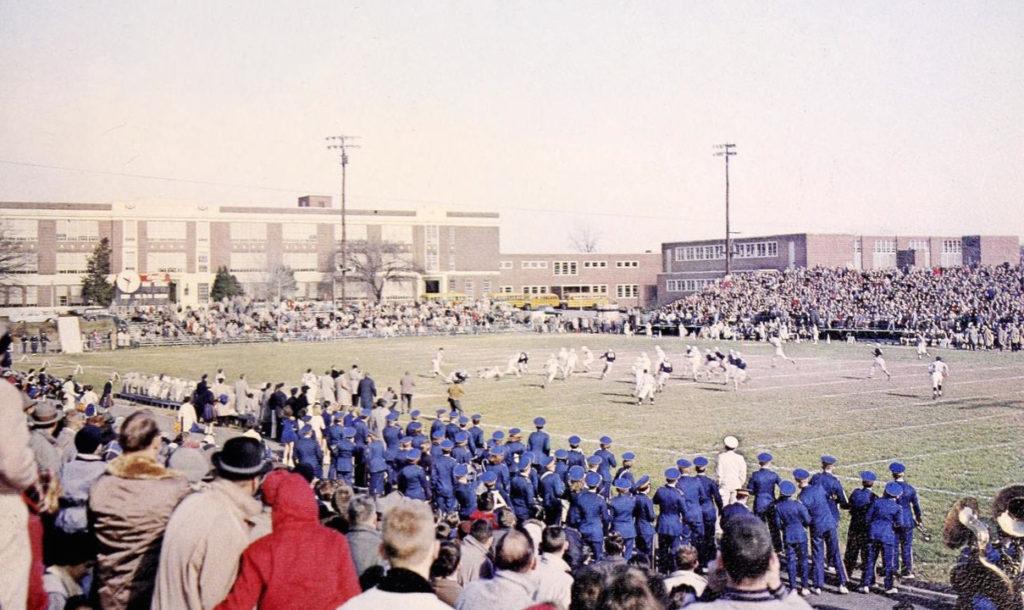 Fall 1958 daytime football game