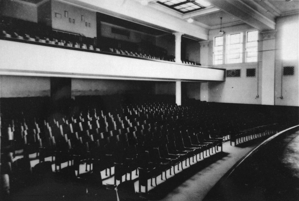 W-L auditorium (photo courtesy of Ivan Washburn, W-L '31)