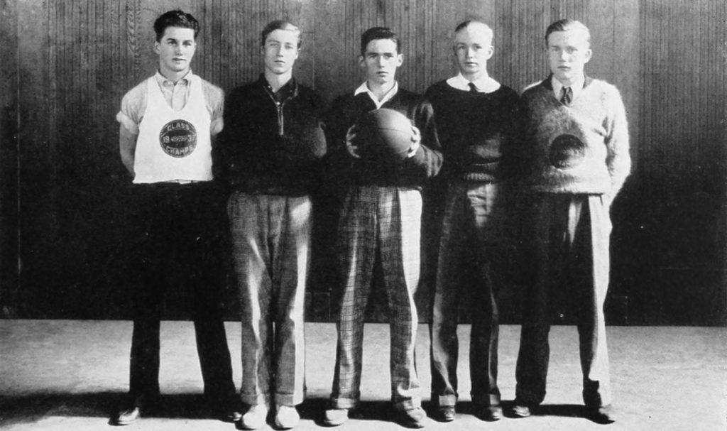 1937 lee intramural boys basketball