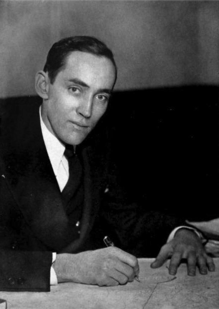 Principal Claude Richmond, Washington-Lee's second principal (1938 Blue and Gray)