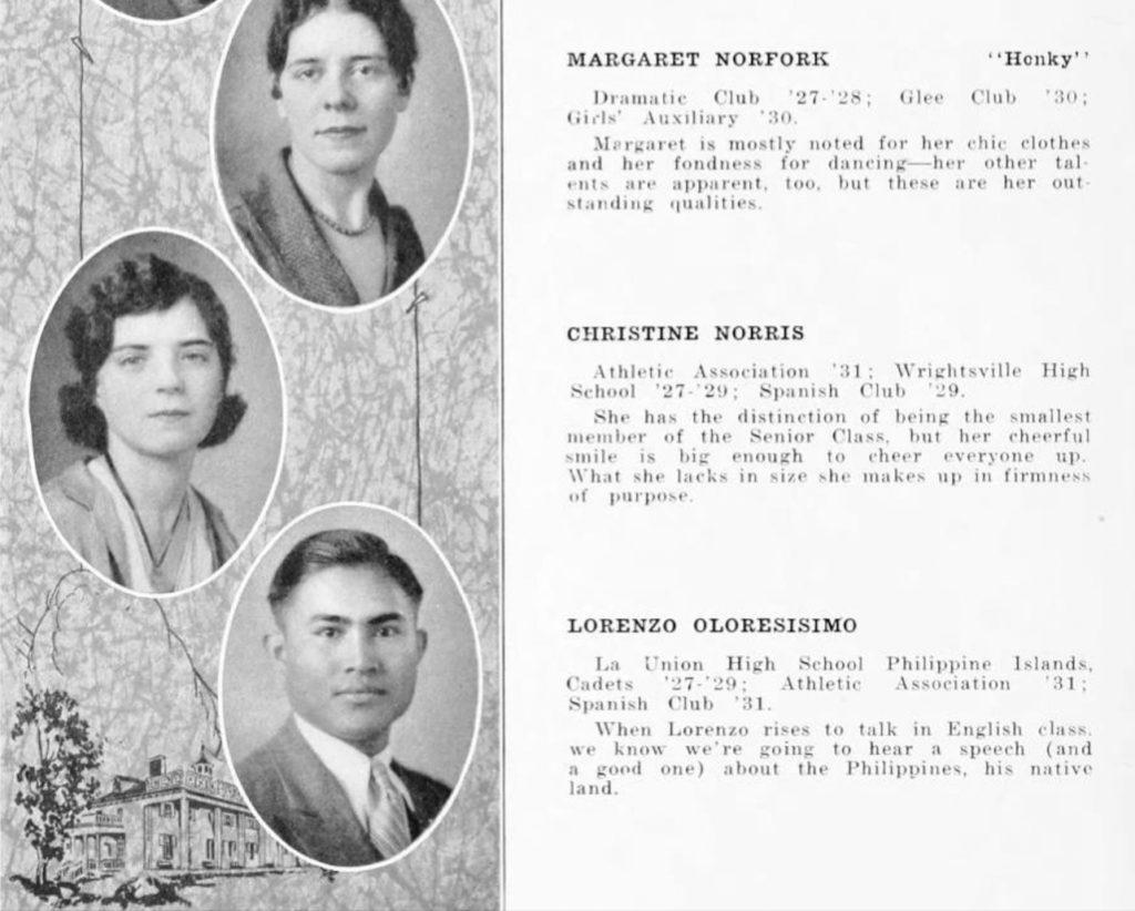 1931 Blue & Gray senior section