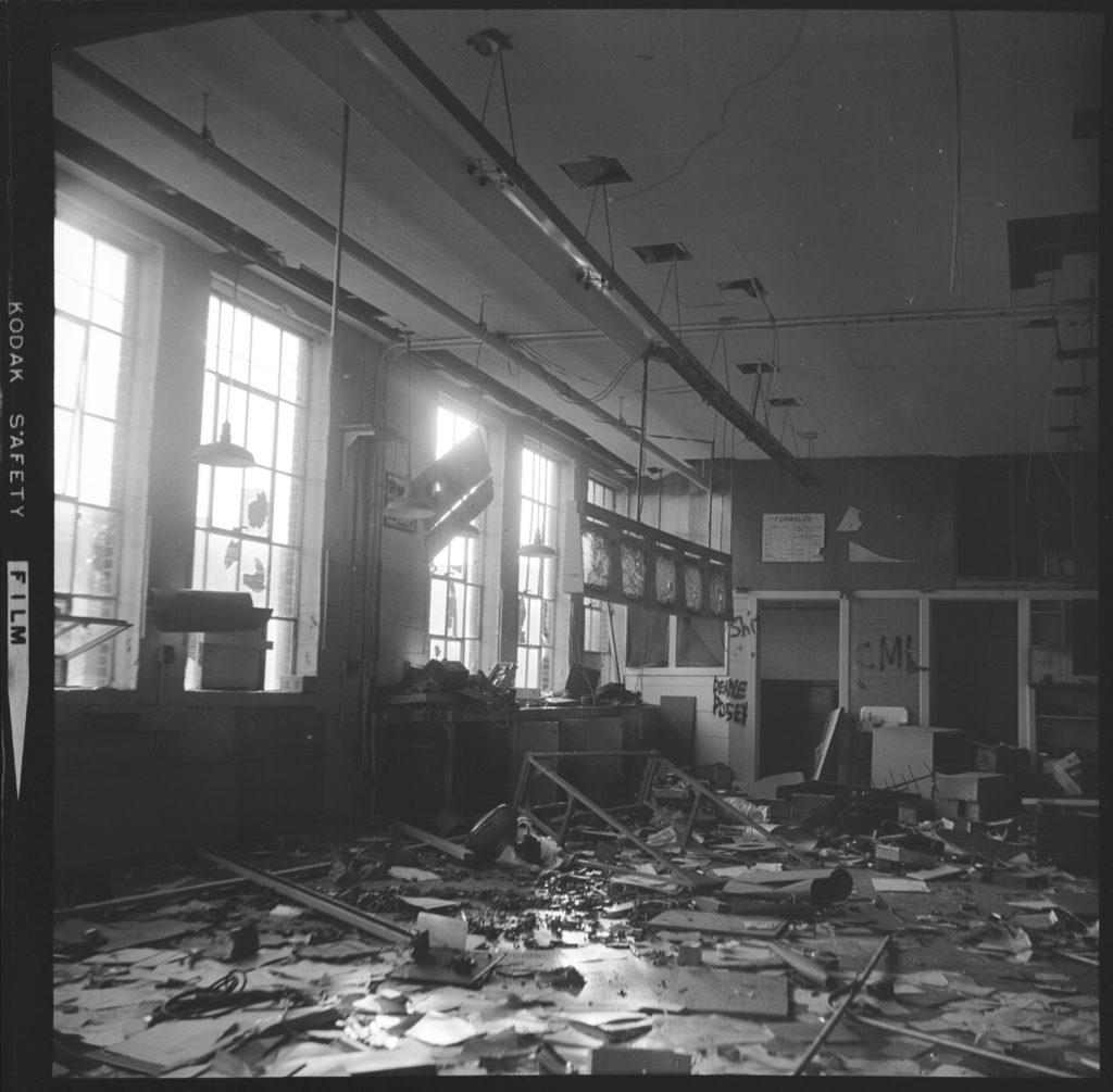 1975 demolition of Industrial Education building