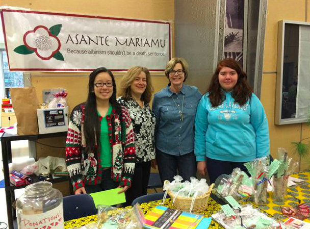 Asante Mariamu table at the HOliday Bazaar