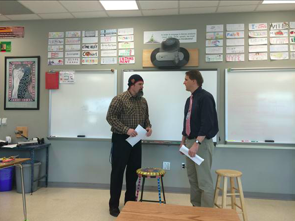 Mr. Summers and Mr. Krauth doing their thing
