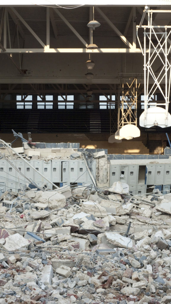 Washington-Lee High School Campbell Gym during demolition in 2009