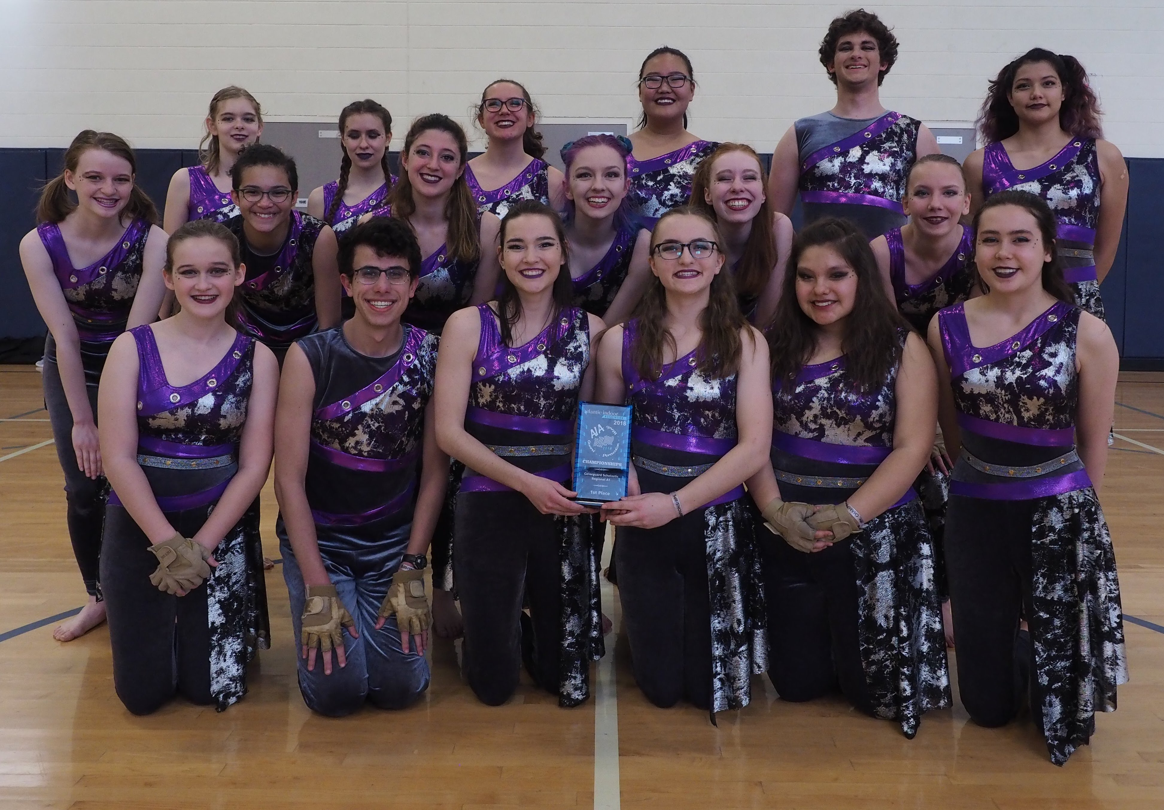 Winter Guard Takes Gold Medal and as a Result Promoted to Next Classification
